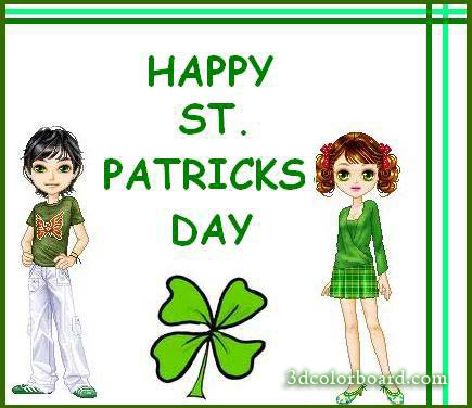 Wishes with St Patrick's Day Graphics, St Patrick's Day Greetings, St Patrick's Day Images, St Patrick's Day Photos and Pictures for Orkut, Facebook, other Social Network Websites.